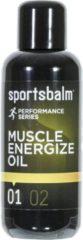 Zwarte Sportsbalm voorbereidingsolie Muscle Energize Oil 200ml per stuk