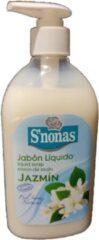 S'nonas - Vloeibare handzeep - Jasmijn - 6 x 500 ml - Voordeelset