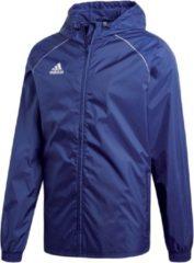 Marineblauwe Adidas Core 18 Sportjas Heren - Dark Blue/White - Maat L
