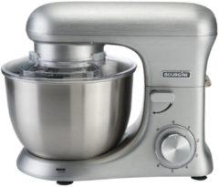 Zilveren Bourgini Keukenmachine Kitchen Chef Pro - Geborsteld Aluminium