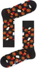 Zwarte Happy Socks Hamburger Junkfood Sokken, Maat 36/40