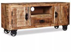 Bruine 5 days Tv-meubel ruw mangohout 120x30x50 cm