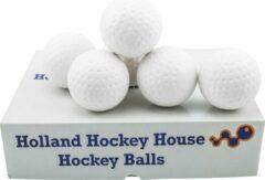 Merkloos / Sans marque Hockeyballen Dimple wit - no logo - 12 stuks