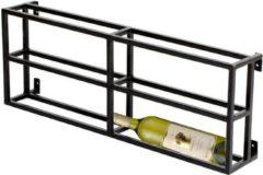 Zwarte 4udesigned Metalen Wijnrek Hangend 2 x 2 Flessen