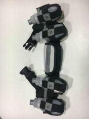 Zwarte SAFEWAYS Race riem met 4 x 165ml energie flesjes