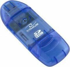 Blauwe Titanum USB Card Reader
