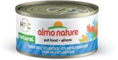 Almo Nature Hfc Cat Natural Blik 70 g - Kattenvoer - Atlantische Tonijn Classic - Kattenvoer