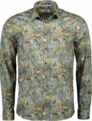 Groene No excess All Over Printed Stretch Shirt 95410218 123 Steel