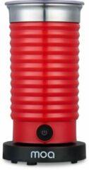 MOA Melkopschuimer Elektrisch - BPA vrij - Voor Opschuimen en Verwarmen - Rood - MF4R