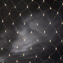 Witte Konstsmide Kerstverlichting buiten - Netverlichting microlight 160 lampjes - 2x1 meter - Warm wit
