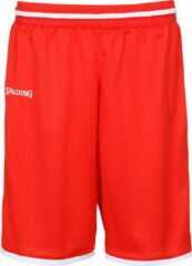 Spalding Move Basketbalshort heren Basketbalbroek - Maat XL - Mannen - rood/wit