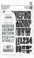 Zwarte X Cut A5 Die Set - Trouw alfabet & nummers (48 delig)