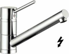 Kludi Scope Keukenmengkraan 10.6cm 3/8 inch flexibele slang 1 kraangat temperatuurbegrenzing Chroom glans 339390575