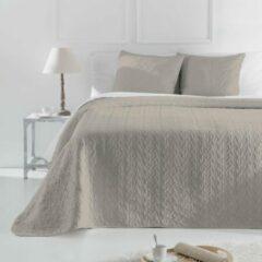 Welterusten Luxe bed sprei deken Lamba beige 250 x 270 met kussenslopen