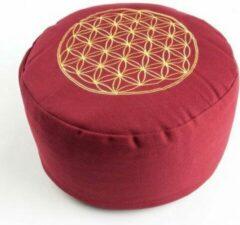 ESW Meditatiekussen, Levensbloem, rood