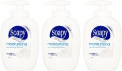 Soapy Moisturizing vloeibare antibacteriële handzeep 900 ML - 3 stuks á 300 ML - Voordeelverpakking