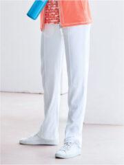 Vrijetijdsbroek model Amanda met elastische band Van Peter Hahn wit