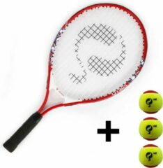 "Quick Q1905 Tennisracket JR 21"" - Stage 3 Rood incl. 3 tennisballen"