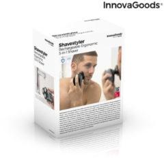 Grijze 5-in-1 oplaadbaar ergonomisch multifunctioneel scheerapparaat Shavestyler InnovaGoods