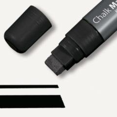 Krijtmarker Sigel 5-15mm afwasbaar zwart SI-GL170