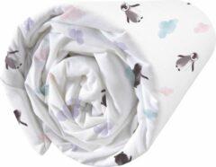 Witte Matt & Rose Hoeslaken Pinguïn - Eenpersoons - 90 x 190/200 cm - Katoen
