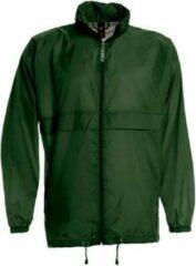 Bc Heren regenkleding - Sirocco windjas/regenjas in het donkergroen - volwassenen XL (54) donkergroen