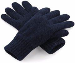 Marineblauwe Beechfield Classic thinsulate handschoenen navy L/xl