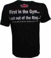 Ali's Fightgear Ali's Fightgear Sportshirt Met Tekst Unisex Zwart Maat Xl