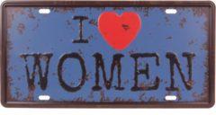 Zwarte S.Y.W Amerikaans nummerbord - I love women