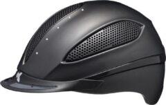 Zwarte Paso M black matt KED cap met SWAROVSKI kristallen - hoofdomtrek: 52-58 cm