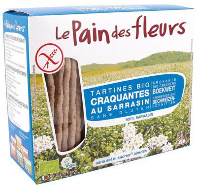 Afbeelding van Le Pain Des Fleurs Boekweit Crackers Zonder Zout Of Toegevoegde Suikers
