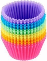Blauwe TrendX Siliconen Cupcake Vormpjes