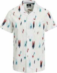Gebroken-witte WE Fashion Heren overhemd met bowlingkraag - Maat L