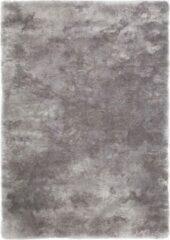 Beige Decor24-OB Handgeweven hoogpolig vloerkleed Curacao - zilver - 60x110 cm