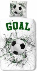 Groene Kinder Dekbedovertrek Leuke Kinder Katoen Eenpersoons Dekbedovertrek Goal | 140x200/220 | Fijn Geweven | Zacht En Huidvriendelijk