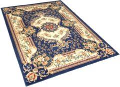 Beliani Vloerkleed donkerblauw 140 x 200 cm GAZIANTEP
