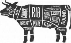 Zwarte Versierendoejezo Sticker cuts of beef Slager koe