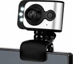 Witte NUOXI EC-C100, Mini camera, USB webcam met microfoon voor PC, laptop, Webcamera HD 480p, zwart/ grijs