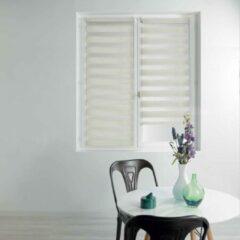 Witte Merkloos / Sans marque Duo Rolgordijn 60 x 180 cm Yami Linnen