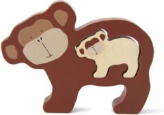 Bruine Trixie houten babypuzzel   Mr. Monkey   Baby puzzle   Speelgoed