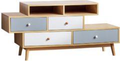 Witte Beliani Irvine - Commode - Hout - bonte kleuren - 119.5x40x58.5
