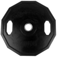 Zwarte Tunturi Olympische Halterschijf - Halter gewichten - 1x 20 kg - 50mm - Rubber