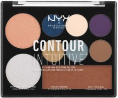 NYX Professional Makeup CONTOUR INTUITIVE™ Eye and Face Sculpting Palette - Jewel Queen