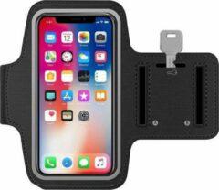 BixB Sport / Hardloop Armband (ZWART) voor iPhone XR - Spatwaterdicht, Reflecterend, Neopreen, Comfortabel met Sleutelhouder