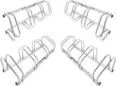Relaxdays 4er Set Fahrradständer Fahrradhalter Bodenparker Bügelparker Wandmontage Stahl