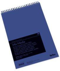 Witte Schoellershammer Reflex studioline MixMediapapier, 300gr, A3 spiraalblok, 30 vel