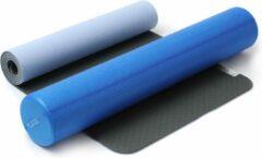 Blauwe Yin-yoga set anthrazite-brightblue Fitnessmat YOGISTAR