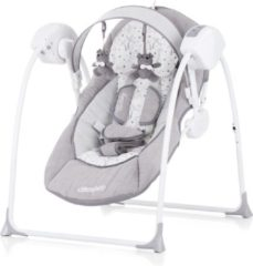 Elektrische babyschommel Chipolino Lullaby grijs, schommelstoel met bluetooth
