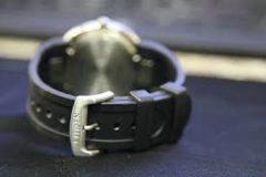 Zwarte Citizen horlogeband E111-S065453 / 59-S51996 Silicoon Zwart 30mm