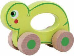 Jouéco rollend dier hout schildpad